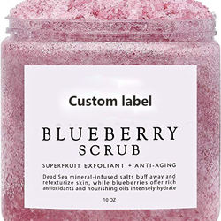 private Label Blueberry Body Scrub Exfoliator  Whitening face Scrub
