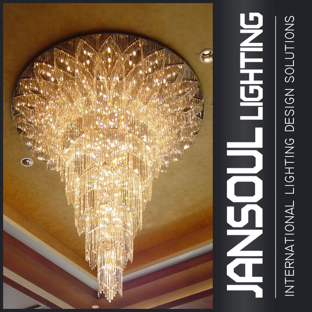 Big hotel promotion asfour k9 crystal chandelier for restaurant