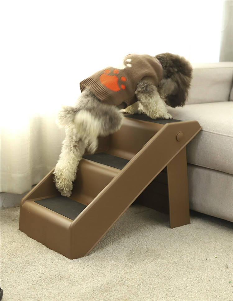 Three Step Pet Steps Stairs Indoor Foldable Pet Stairs Dog Stairs for Bed