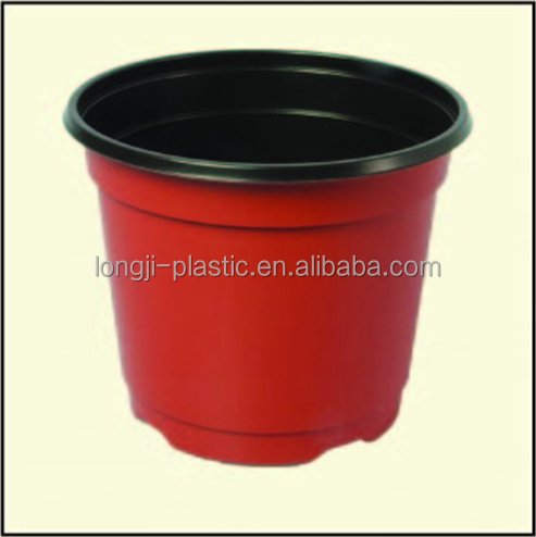 Plastic Flower Nursery Pot/double Color Ps Pots