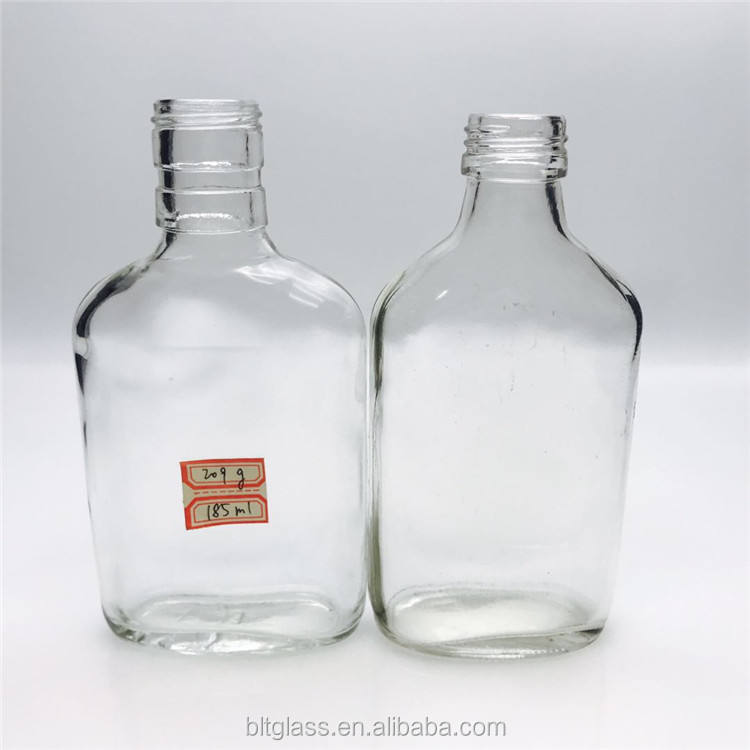 175ml 187ml clear screw cap wine glass bottle for vodka whiskey crystal wholesale