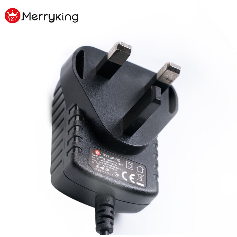 UK 3 Pin BS Adapter 12 V 24 V 0.5A 1A 2A AC DC Voeding Adapter
