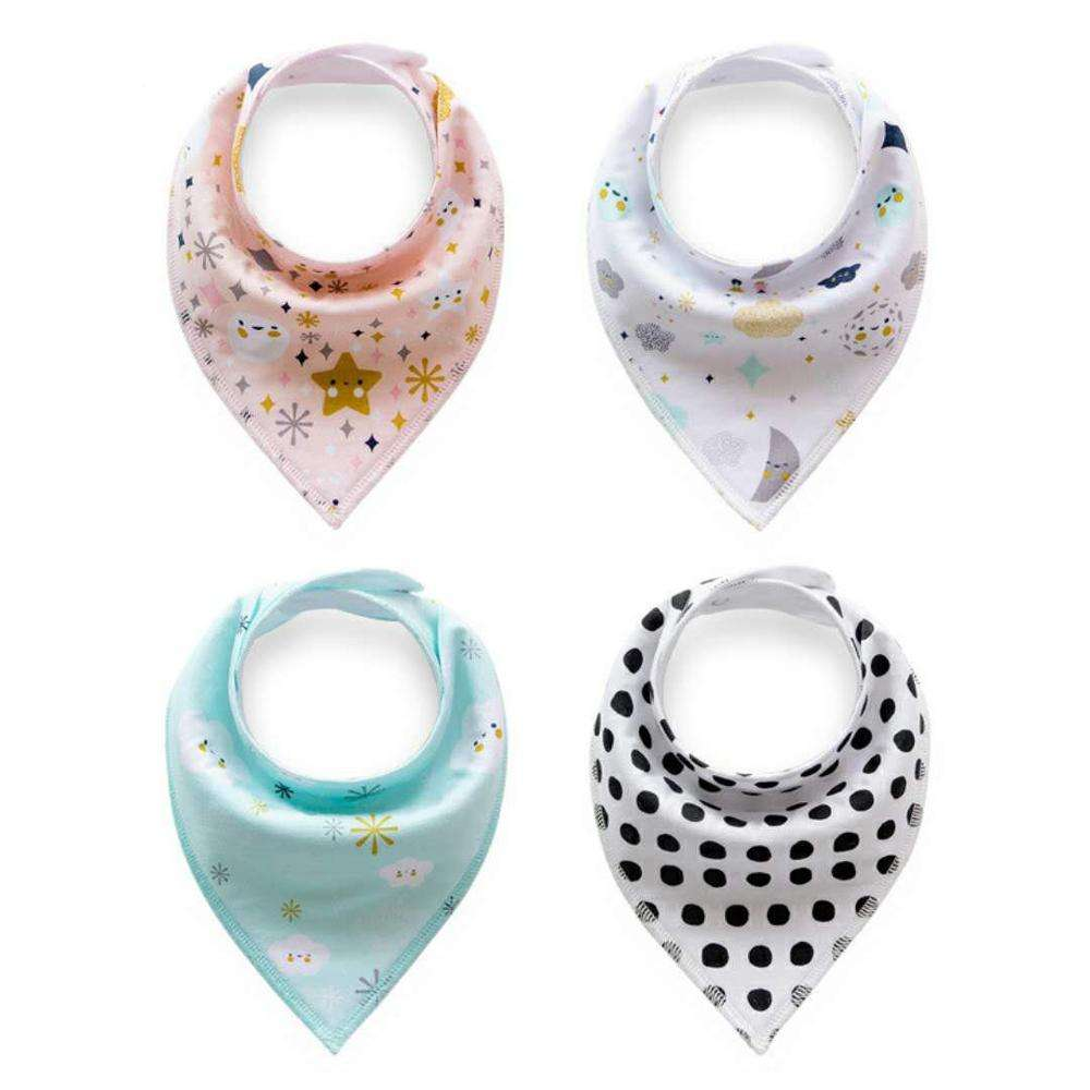 Dribble Baby Bibs Triangle For Girls 100% Cotton Bandana Baby Drool Custom Printed Disposable Bibs