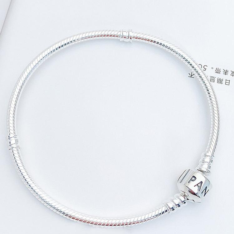 Factory wholesale Silver Bracelet with Silver Clasp Women's fit for pandora bracelet