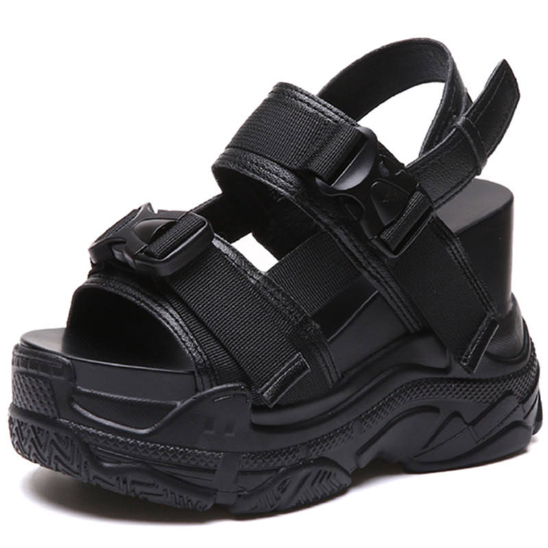 12CM Platform Women Wedge Sport Sandals High Heel Gladiators Fashion Sneakers Summer Shoes Creepers Comfortable Shoes