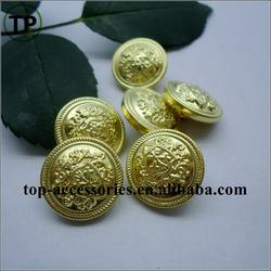 new style metal plated gold shank brass button for garment