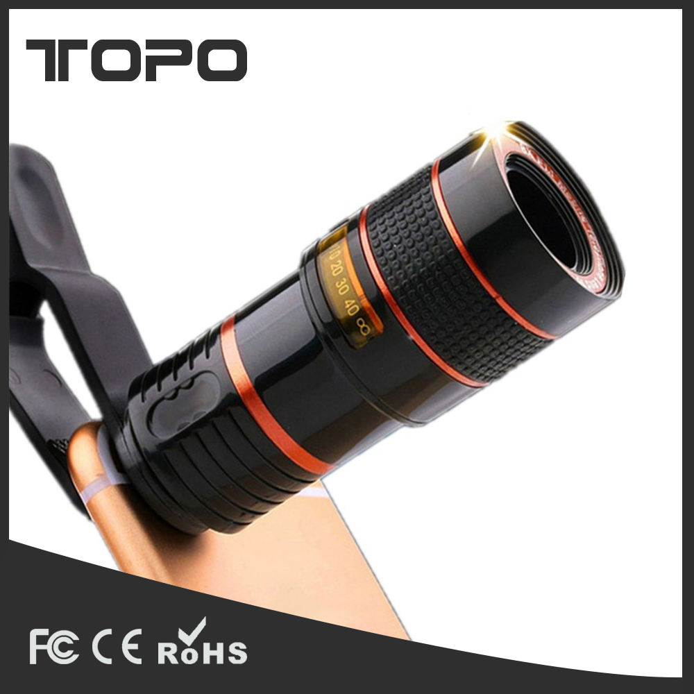 Chinese OEM Factory High Quality 8x Optical Zoom Long Focus Universal Smart Mobile Phone Monocular Telescope