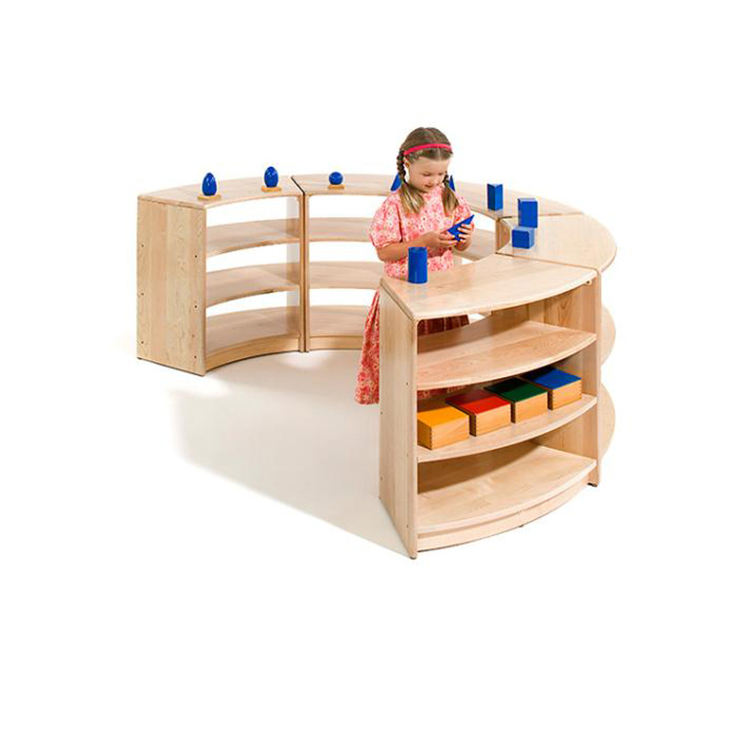 High Quality Educational Montessori Furniture School Wooden Kids Toy Storage Cabinet