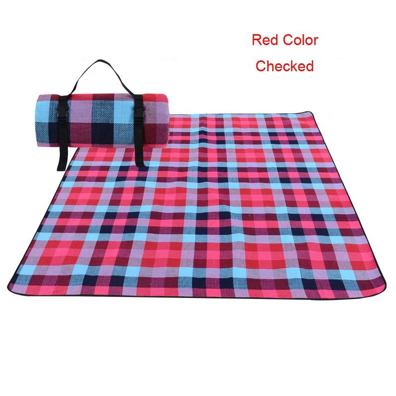Acrylic Checked Picnic Blanket Waterproof Beach Mat Camping Mat Picnic Mat Ground/Grass Sheet Hiking Travel Outdoor