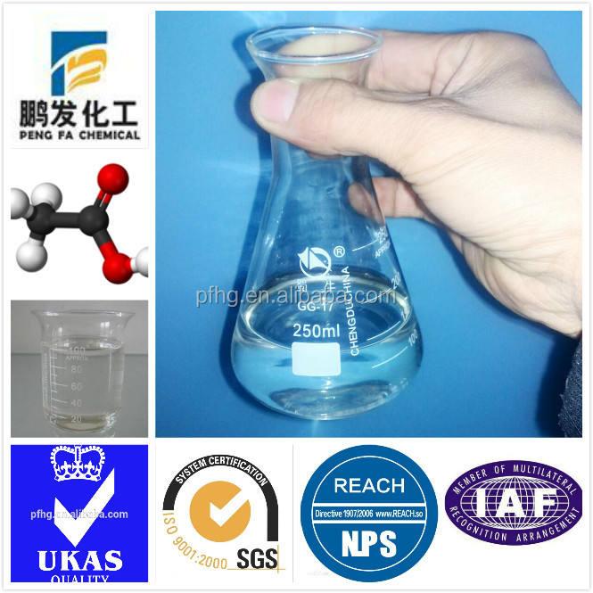 94% acido acetico glaciale utilizzato per produzione di produzione di pesticidi