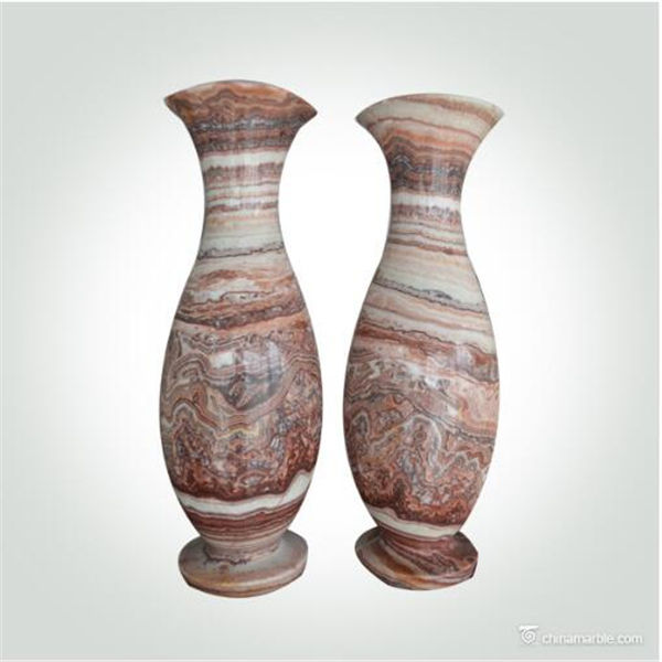 Home Decor Natural Stone Marble Onyx Handicraft Works Vase