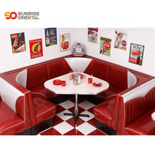 American restaurant furniture fifties retro style diner booths restaurant booths hot sale to USA