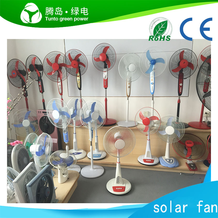 16インチ12V SOLAR DC STAND FAN/RECHARGEABLE FAN