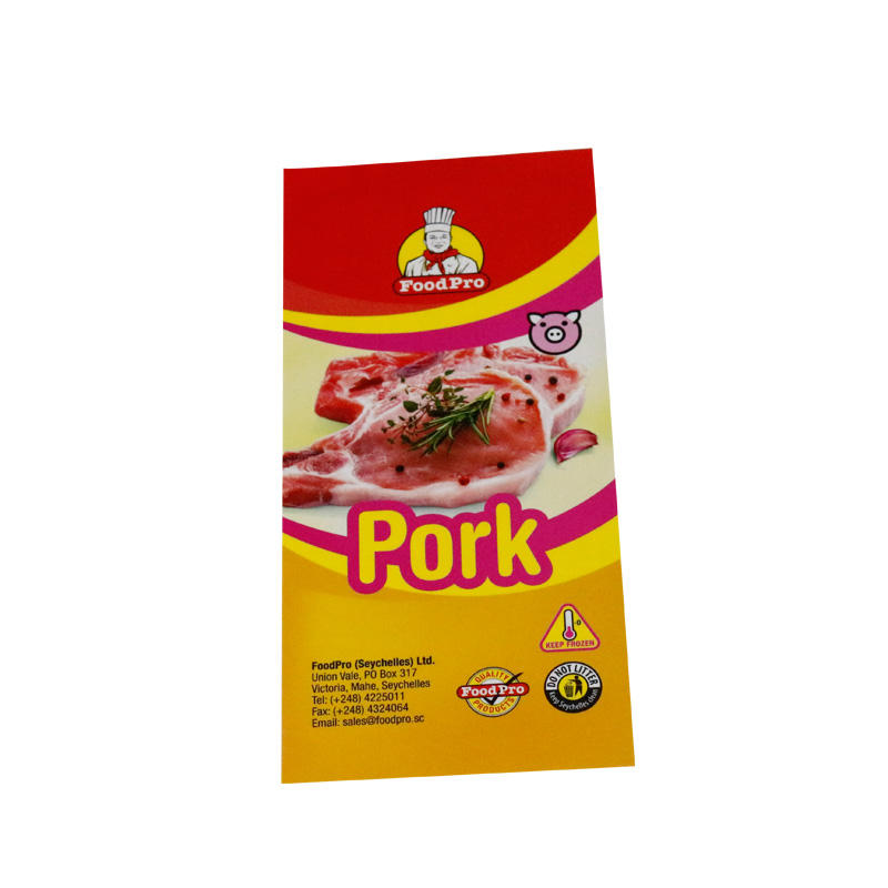 Custom adhesive private eco-friendly waterproofdurable frozen meat packaging label