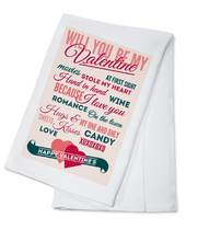 Valentine's Day - Typography (100% Cotton Kitchen Towel)