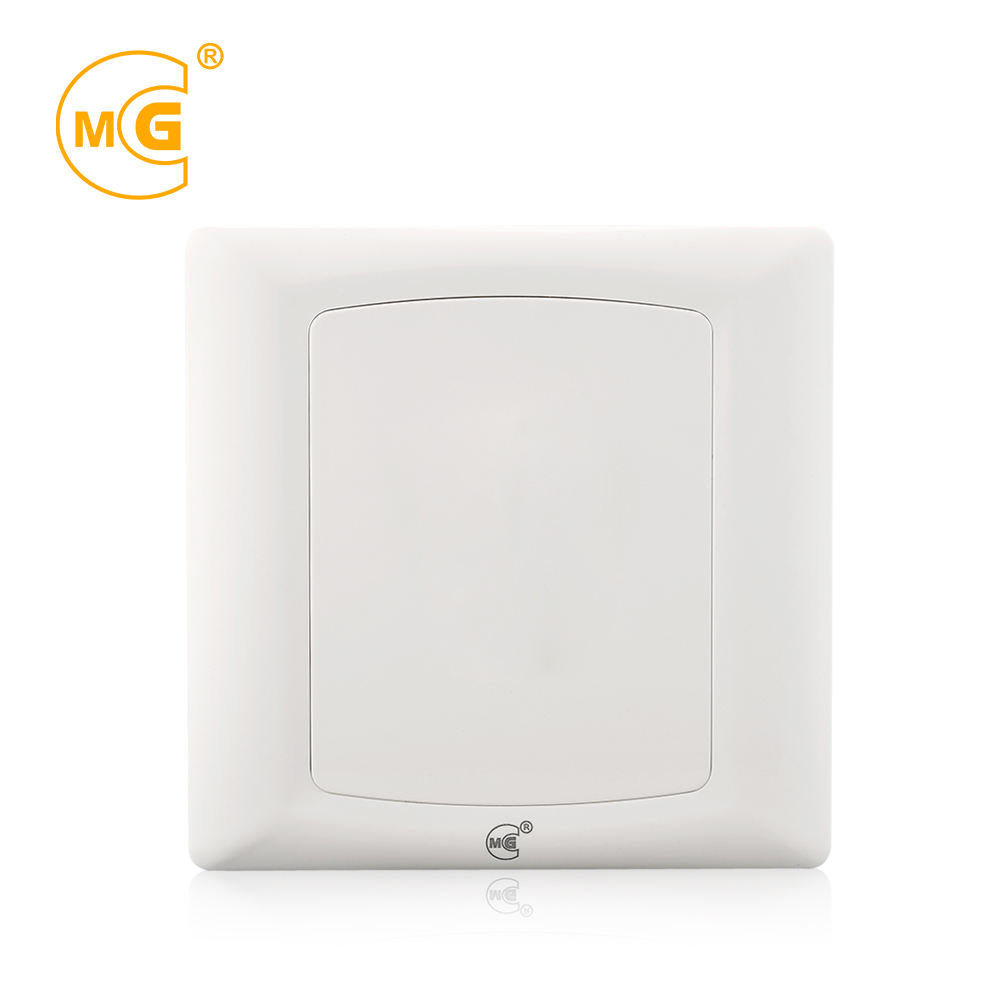 Plastic british 1 gang electric wall switch blank panel