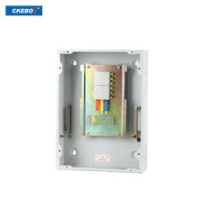 2019 Chaoke brand new main indoor din rail type tpn 4way 12p mcb live copper busbar power distribution board
