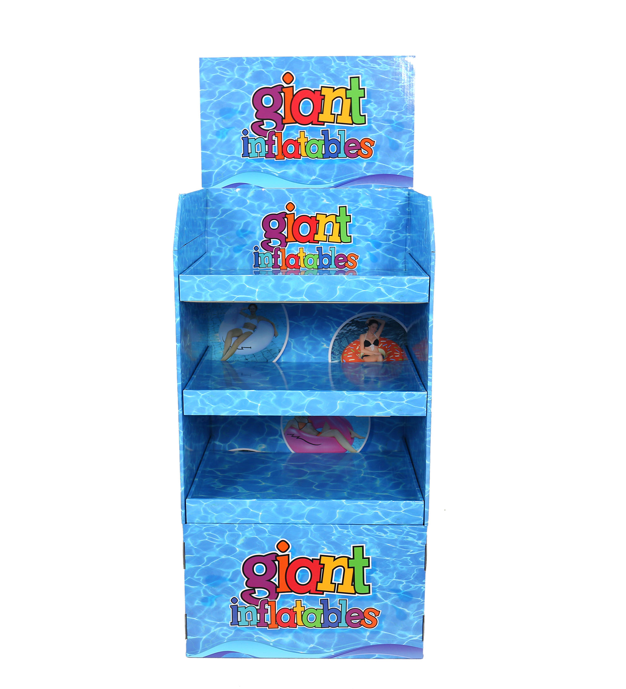 Custom Design 3 Tiers Display Stands Swim Rings/Inflatables Display Stands
