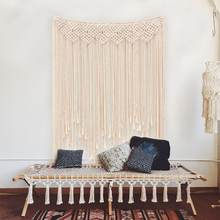 Macrame Wall Hanging Boho Wedding Backdrop Decoration, Macrame Wall Hanging Bohemian Apartment Dorm Room Art Decor