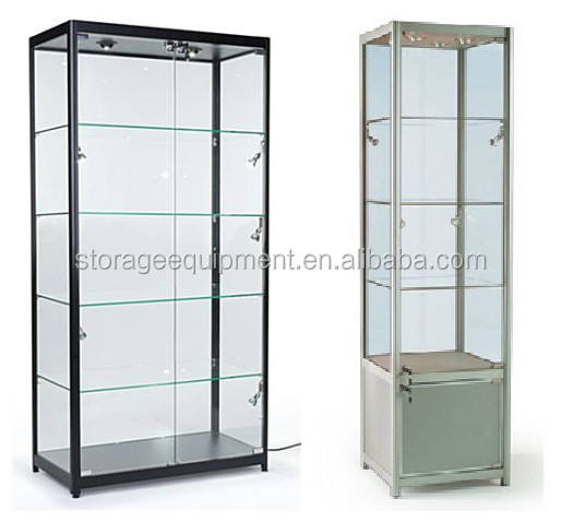 2020 stylish glass showcase/display cases for sale