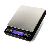 Pinxin 500g/3kg 0.01g/0.1g Precision Gram Digital Led Weight Kitchen Scale Timer Jewelry Pocket Weighing Scale