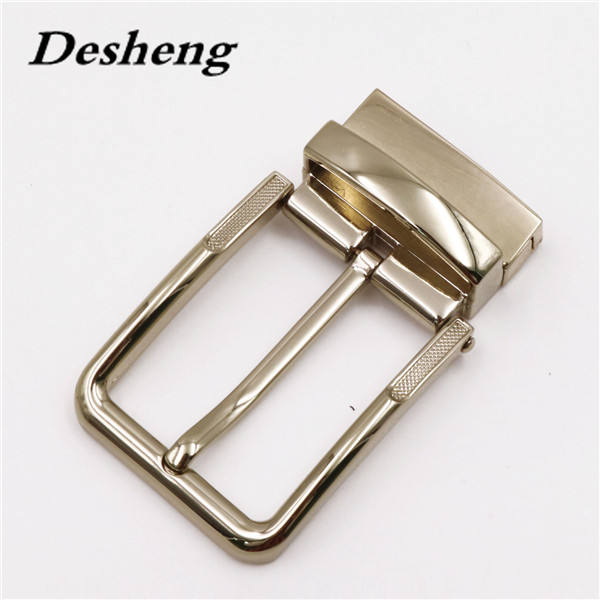 High guality gold plating zinc alloy clip reversible belt pin buckle for unisex