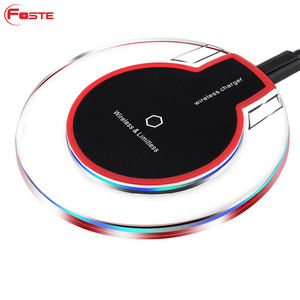 K9 Crystal Custom Mobile Cell Phone Auto Mini Portable Fast Charging Qi Fast Charge Wireless Charger#