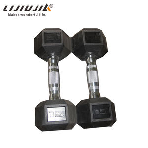 wholesale bodybuilding fitness black chromed 5kg dumbbell set
