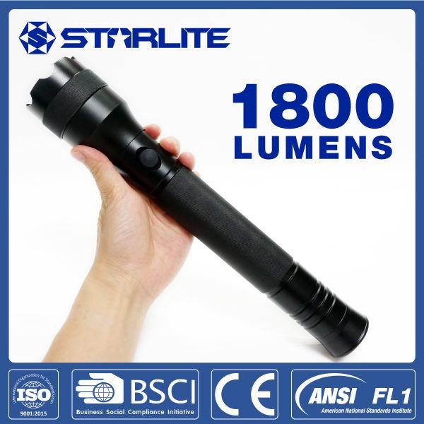 STARLITE 1800 lúmenes LED 1800lm IPX7 nueva CE 3 x <span class=keywords><strong>D</strong></span> policía antorcha de destello