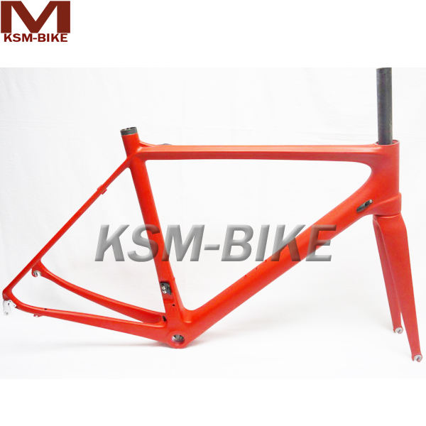 Red Color Super Light Carbon Road Frameset 2014 In-stock Fast Shipping