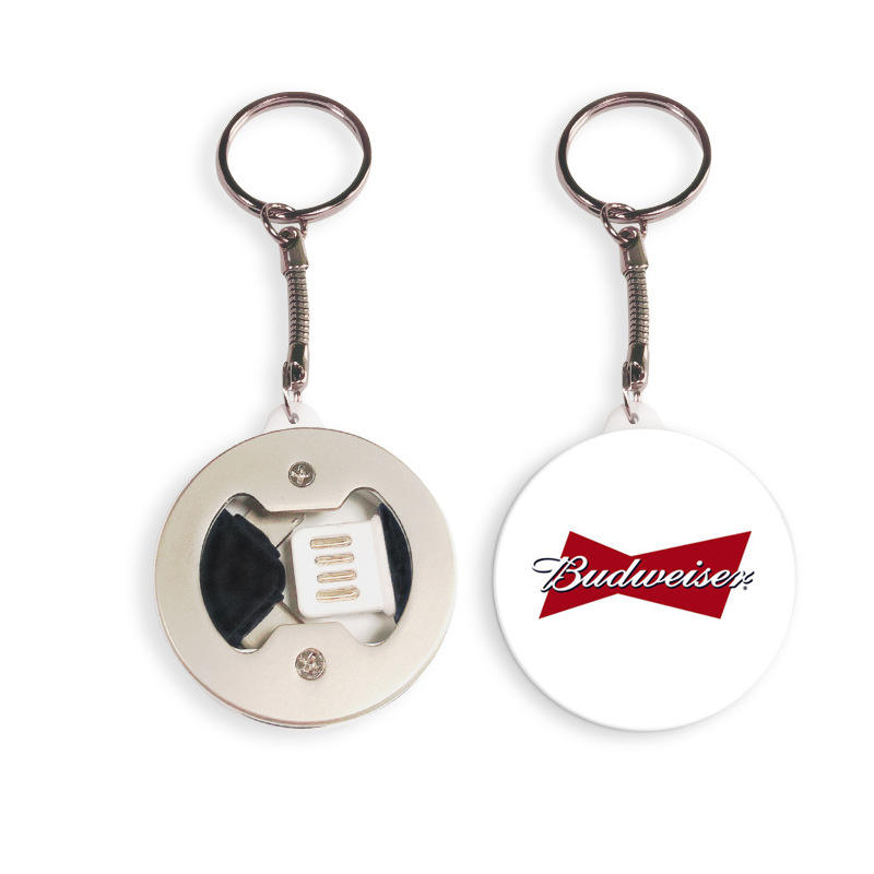 2019 marketing gift bottle opener printed with logo 3 in 1 keychain bottler opener usb cable