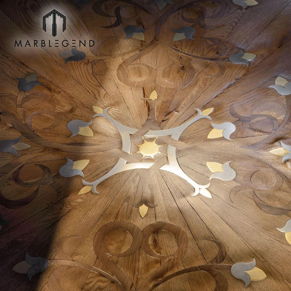 custom Chinese art wood parquet selections natural solid wood floor