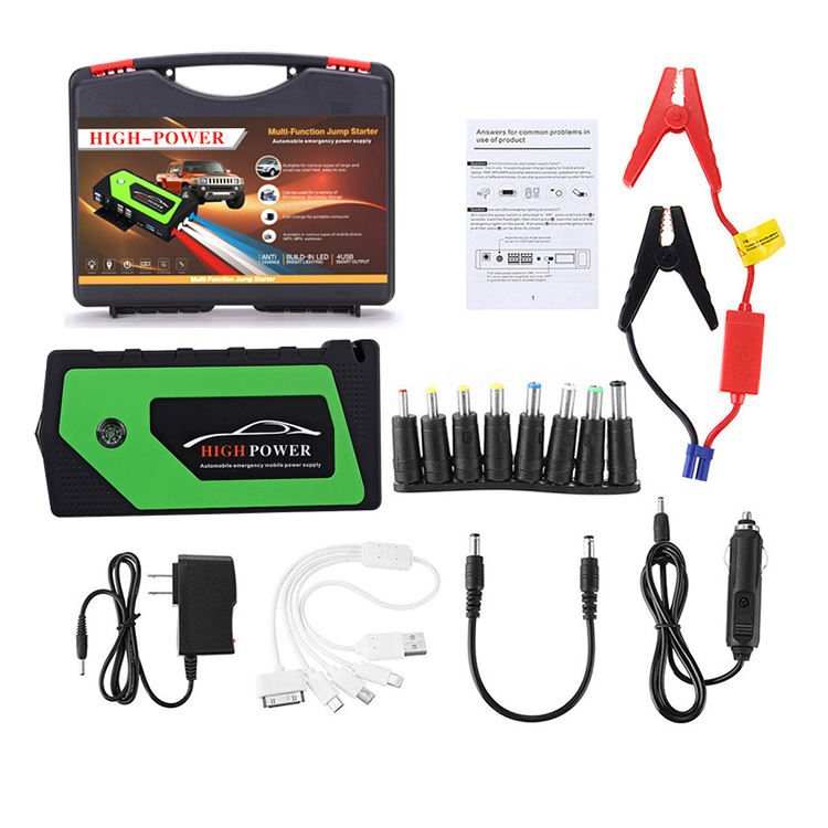 Factory Supply 9000mah 300A starting current car jump starter Without Air Pump
