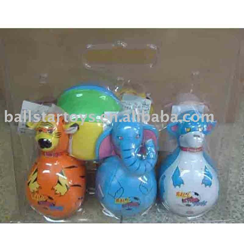 vinyl stuffed Animal soft Bowling ball toy play set,Bowling toy for kid factory