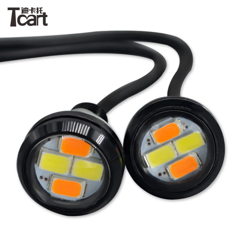 Impermeabile 23mm 5630 4smd LED Bianco E Ambra Dual Color Eagle Eye Per L'interruttore Posteriore Turno Luce