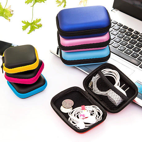 Portable Earphone Accessories Bag Earphone Case Zipper Headphone Storage