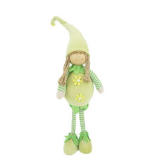 Christmas Decoration Supplies Spring Home Decor Green Standing Girl Elf Plush Doll