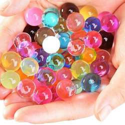 Free Sample ECO friendly material absorbent resin crystal soil 14 colors magic water beads