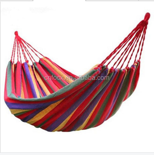 High quality portable camping hammock,canvas hammock,fabric hammock