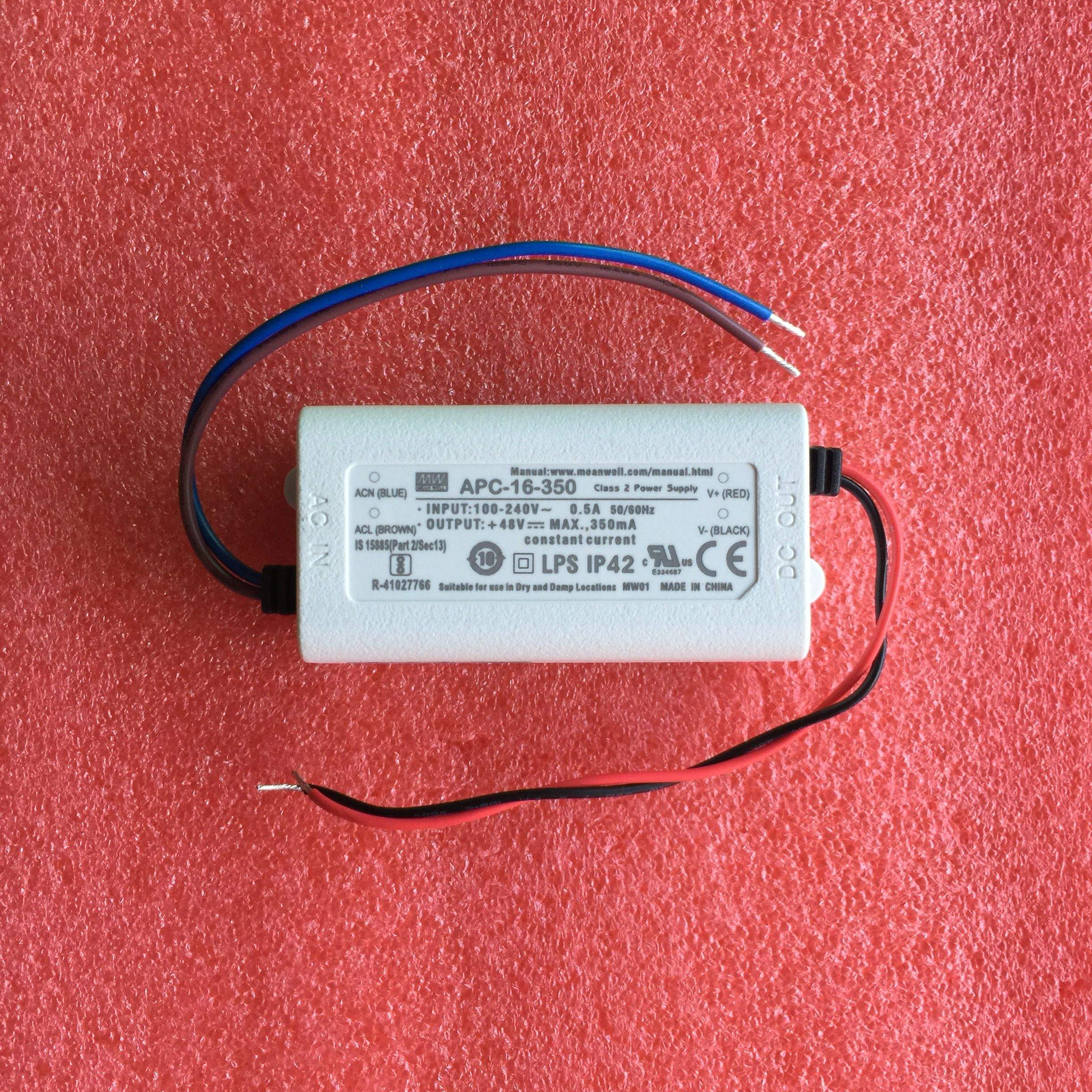 APC-16-350 Meanwell switching power supply constant current IP42 LED 16.8W 12-48V 350mA factory direct sales 2 years warranty