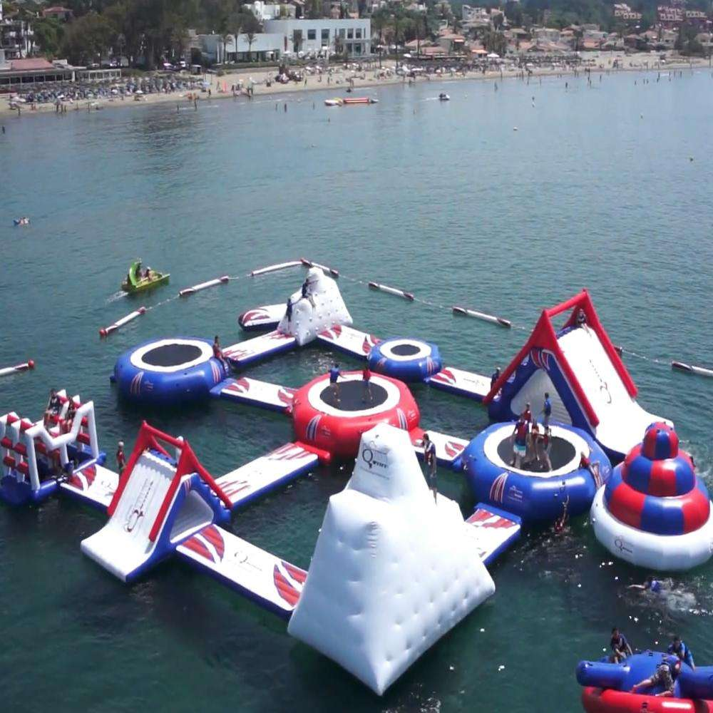 Inflatable Floating Water Park Inflatable Water Games Park Amusement Equipment For Events