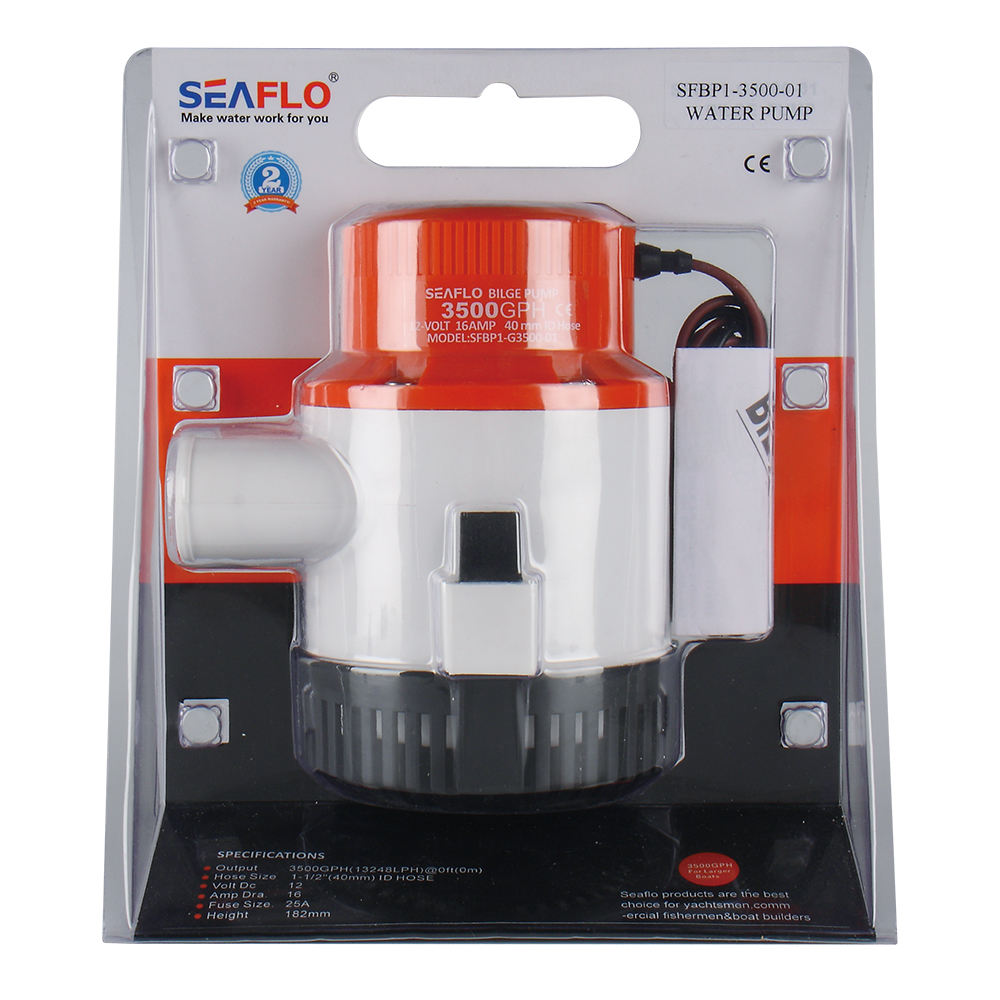 SEAFLO 3500GPH 24v submersible water bilge pump