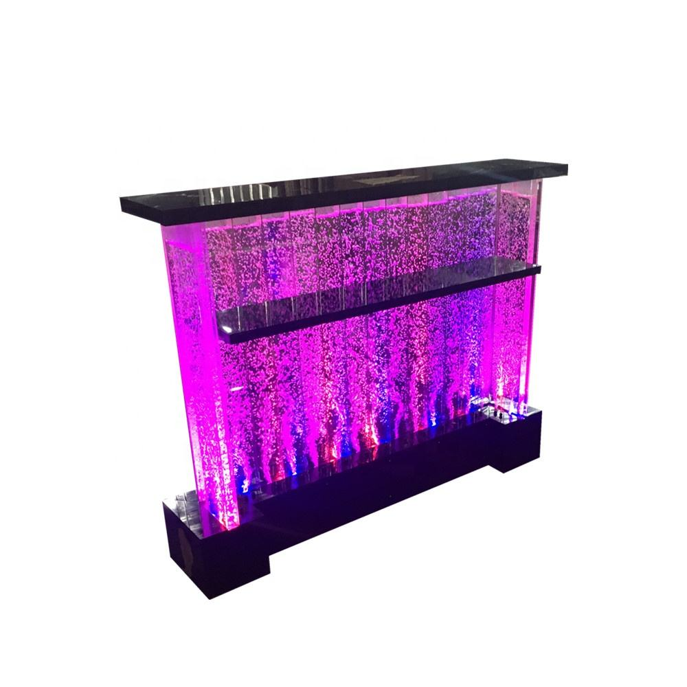 Customise Water Bubble Feature Panel used as LED Bar Table