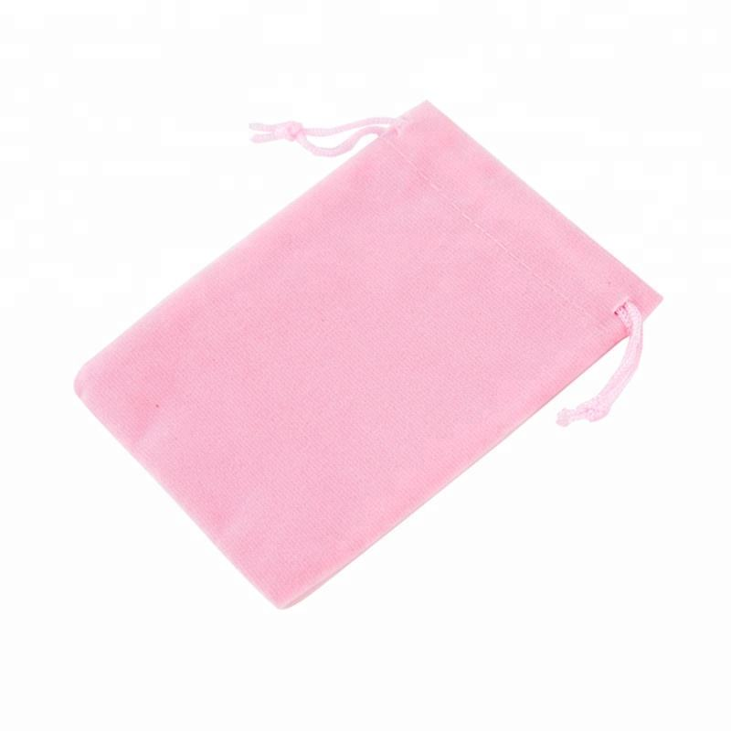 Wholesale organza evening velvet bag with logo printing