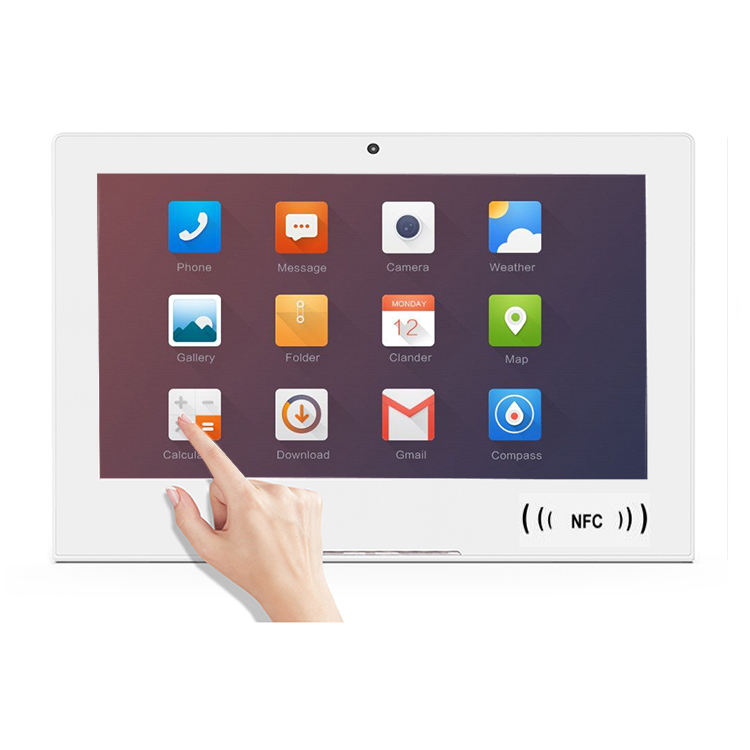 Desktop android tablet PC 10 inch nfc android 8.1 poe kiosk / feedback tablet with rs232/rs485