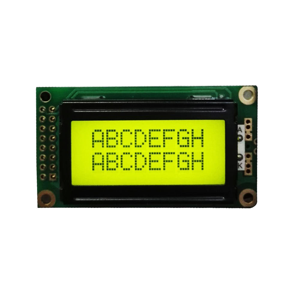 8x2 LCD 8*2 Display LCM STN/FSTN Module with backlight