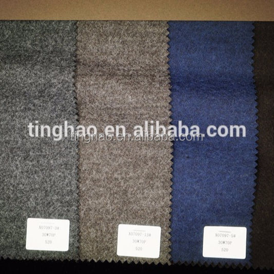 Wool blended knit wool coating fabric