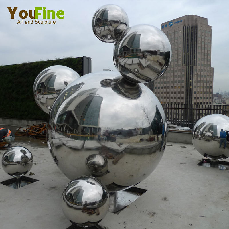 Decoration metal ball stainless steel outdoor sculpture