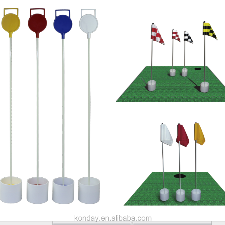 Golf Putting Practice Green Flag Pin and Hole Cup