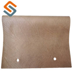 Best selling 0.7mm brush fabric backing and good elastic pvc artificial leather for bag and sofa